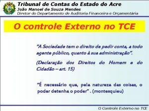 Tribunal de Contas do Estado do Acre Joo