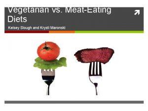 Vegetarian vs MeatEating Diets Kelsey Slough and Krysti