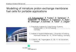 Modelling of miniature PEM fuel cells Modelling of