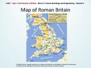 LKS 2 Topic The Romans in Britain Block