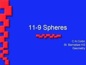 11 9 Spheres C N Coln St Barnabas
