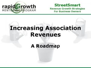 Street Smart Revenue Growth Strategies For Business Owners