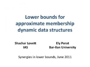 Lower bounds for approximate membership dynamic data structures