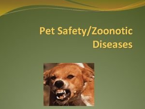 Pet SafetyZoonotic Diseases Definitions Zoonotic Diseases that can