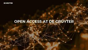 OPEN ACCESS AT DE GRUYTER OPEN ACCESS AT