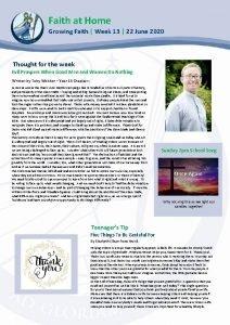 Faith at Home Growing Faith Week 13 22