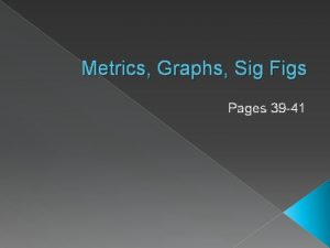 Metrics Graphs Sig Figs Pages 39 41 Graphs