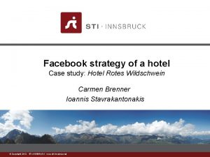 Facebook strategy of a hotel Case study Hotel