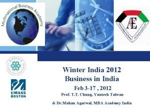 Winter India 2012 Business in India Feb 3