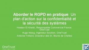 Aborder le RGPD en pratique Un plan daction