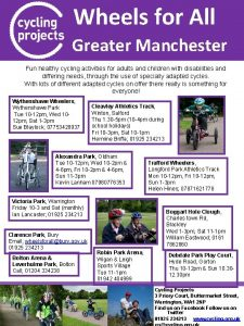 Wheels for All Greater Manchester Fun healthy cycling
