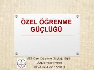 ZEL RENME GL MEB zel renme Gl Eitim
