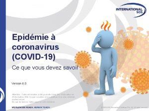 Epidmie coronavirus COVID19 Ce que vous devez savoir