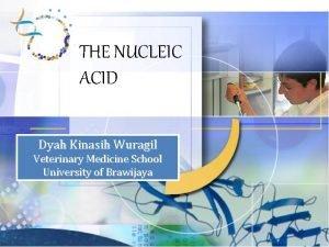 THE NUCLEIC ACID Dyah Kinasih Wuragil Veterinary Medicine