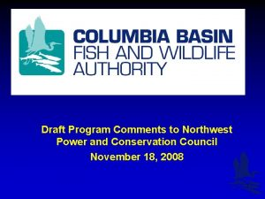 Draft Program Comments to Northwest Power and Conservation