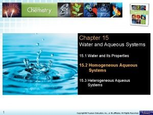 15 2 Homogeneous Aqueous Systems Chapter 15 Water