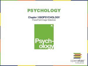 PSYCHOLOGY Chapter 3 BIOPSYCHOLOGY Power Point Image Slideshow