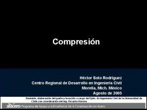 Compresin Hctor Soto Rodrguez Centro Regional de Desarrollo