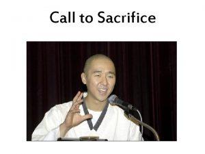 Call to Sacrifice Call to Sacrifice Come unite