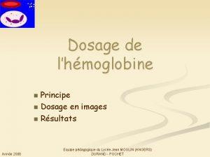 Dosage de lhmoglobine Principe n Dosage en images