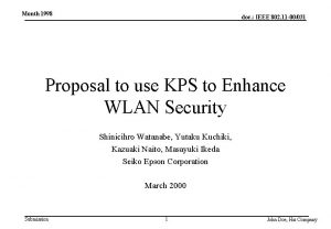 Month 1998 doc IEEE 802 11 00031 Proposal