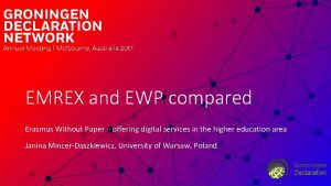EMREX and EWP compared Erasmus Without Paper offering