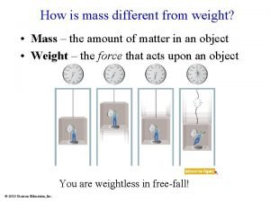 How is mass different from weight Mass the