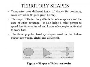 TERRITORY SHAPES Companies uses different kinds of shapes
