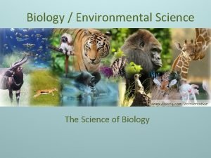 Biology Environmental Science The Science of Biology Scientific