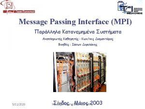 MPI include mpi h mainint argc char argv