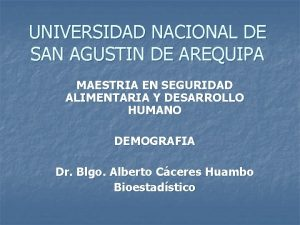 UNIVERSIDAD NACIONAL DE SAN AGUSTIN DE AREQUIPA MAESTRIA
