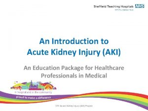 An Introduction to Acute Kidney Injury AKI An