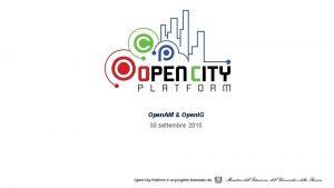 Open AM Open IG 30 settembre 2015 Open