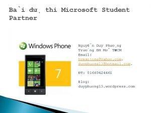 Ba i d thi Microsoft Student Partner Nguy