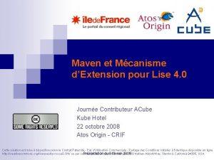 Maven et Mcanisme dExtension pour Lise 4 0
