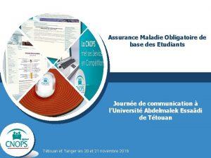 Assurance Maladie Obligatoire de base des Etudiants Journe
