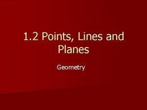1 2 Points Lines and Planes Geometry ObjectivesAssignment