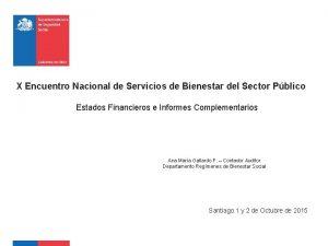 X Encuentro Nacional de Servicios de Bienestar del