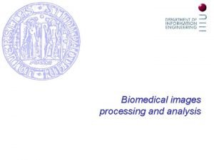 Biomedical images processing and analysis Biomedical images processing