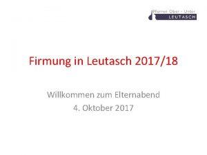 Firmung in Leutasch 201718 Willkommen zum Elternabend 4