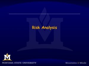 Risk Analysis Risk Management References T Lister Risk