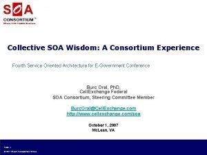 Where SOA Means Business Collective SOA Wisdom A