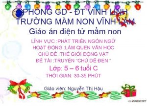 PHNG GD T VNH LINH TRNG MM NON