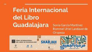 Feria Internacional del Libro Garca Martnez Guadalajara Sonia