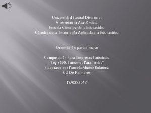 Universidad Estatal Distancia Vicerrectora Acadmica Escuela Ciencias de