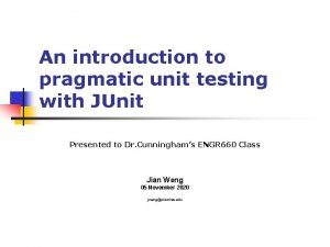 An introduction to pragmatic unit testing with JUnit