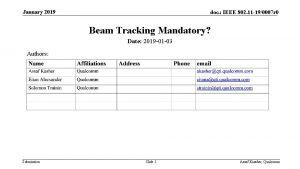 January 2019 doc IEEE 802 11 190007 r