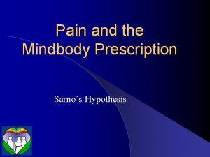 Pain and the Mindbody Prescription Sarnos Hypothesis Pain