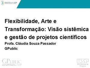 Flexibilidade Arte e Transformao Viso sistmica e gesto