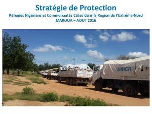 Stratgie de Protection Rfugis Nigrians et Communauts Ctes